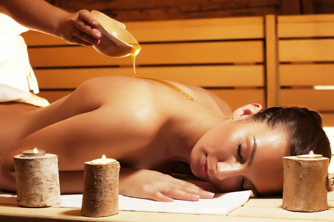 Похудение в бани мед с солью